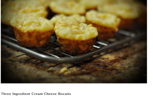 Three Ingredient Cream Cheese Biscuits 512x324 Baking Recipes for Christmas