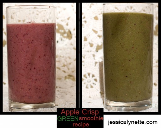 applecrisp smoothie 512x409 Apple Crisp Green Smoothie Recipe