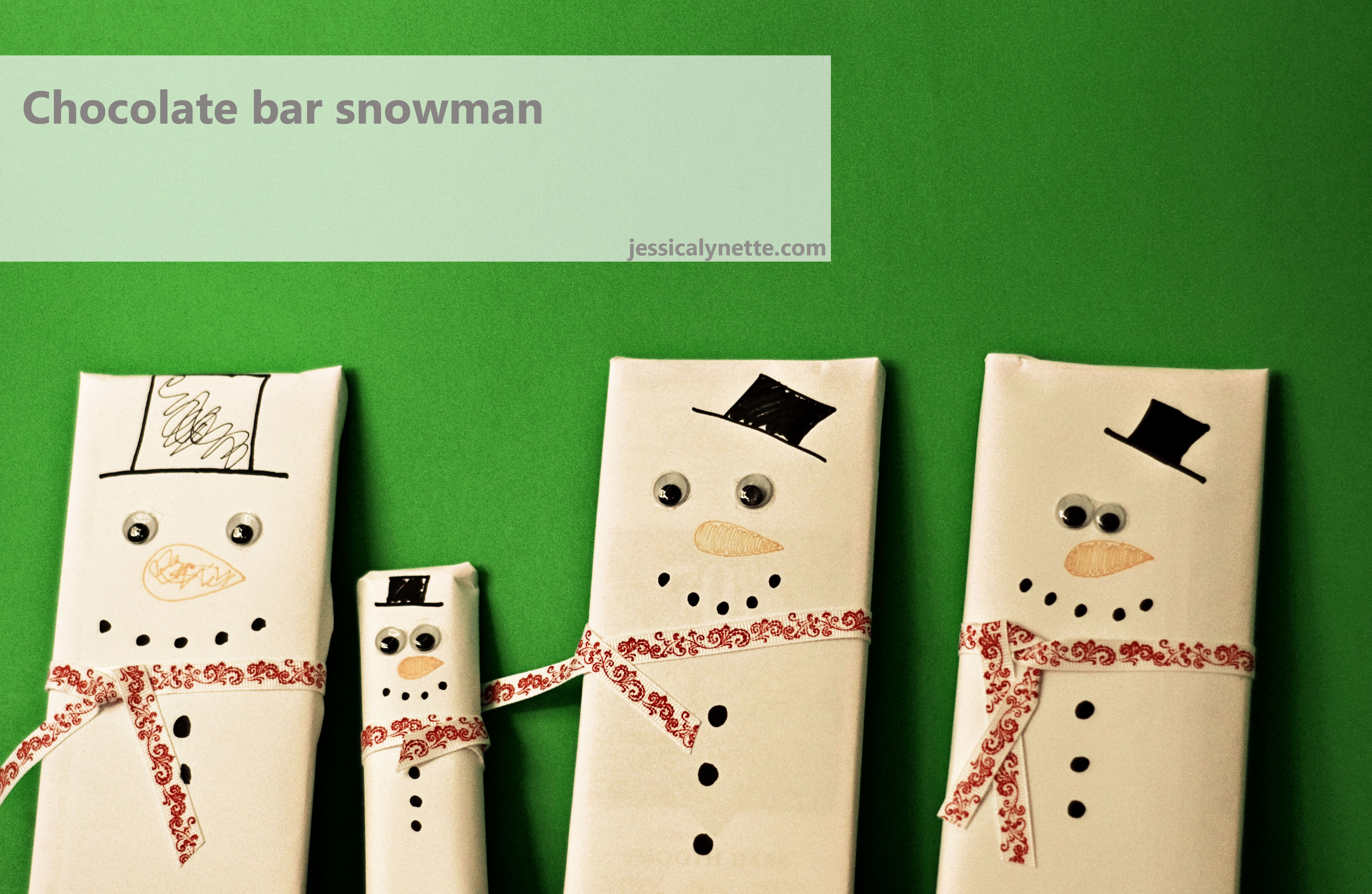 chocolate bar snowman Snowman Chocolate Bars   Christmas Traditions