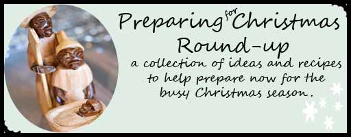 christmas preparing button Preparing for Christmas Roundup