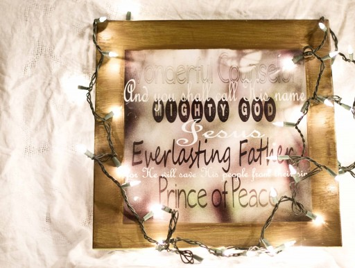 christmas verse11 512x387 Christmas Craft   Photo & Wooden Frame