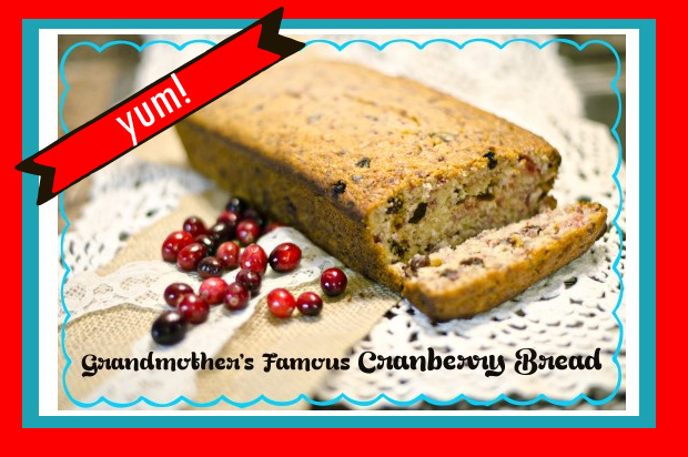 cranberry bread  - thanksgiving bread recipe based off the children's book