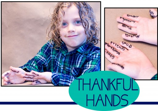 THANKFULHABITACTIVITY 512x358 Teaching the Habit of Thankfulness to Children   Thankful Hands Activity