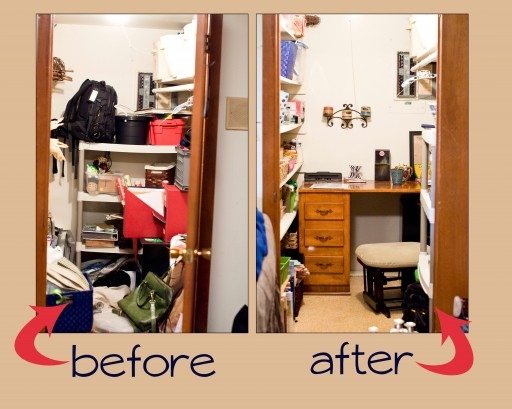 closet before and after  512x409 Closet Before and After