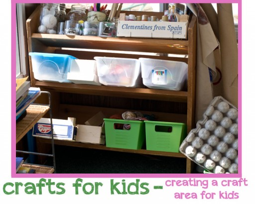 crafts for kids 512x409 Crafts For Kids   Creating a Craft Area for Kids