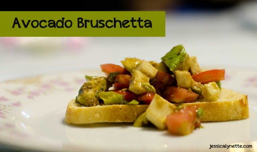 avocado bruschetta 512x303 Avocado Bruschetta Recipe