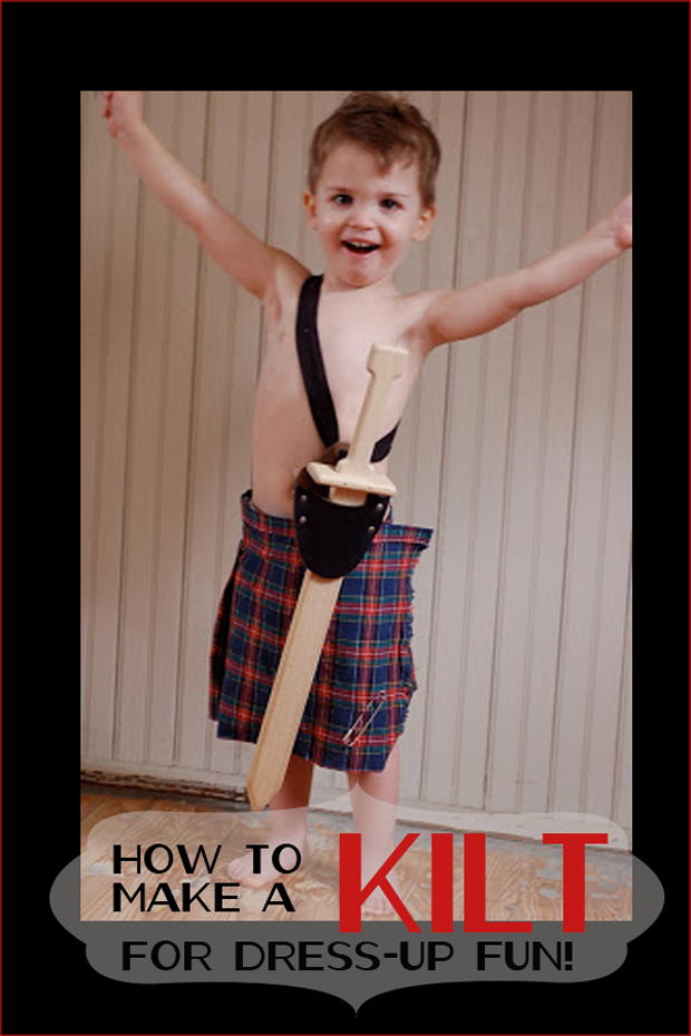 how to make a kilt How to Make a Kilt   Dress up Clothes for Kids