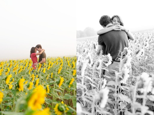 3 512x384 Engagement Photos :: Sunflower Field & Cabin in the Woods