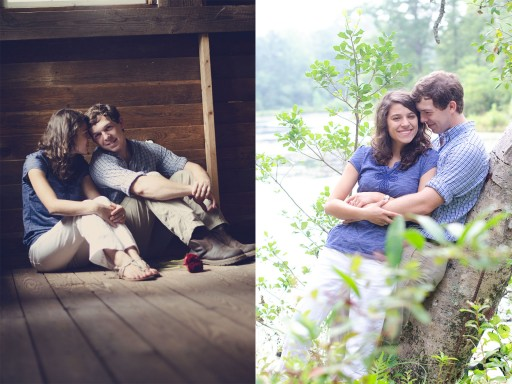 Untitled 1 512x384 Engagement Photos :: Sunflower Field & Cabin in the Woods