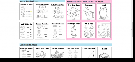 free coloring pages 7 512x237 Free Coloring Pages :: 10 Favorite Websites