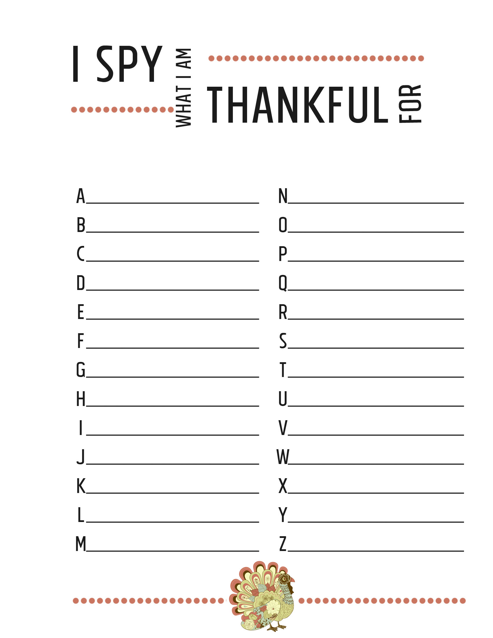 Thanksgiving Worksheets {free printables} - JessicaLynette.com