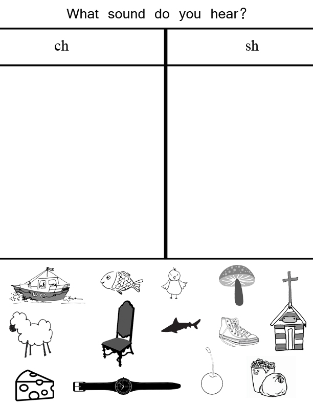 Worksheet Ch Sound Worksheets sh sound practice jessicalynette com printable worksheet to distinguish between the ch and sound