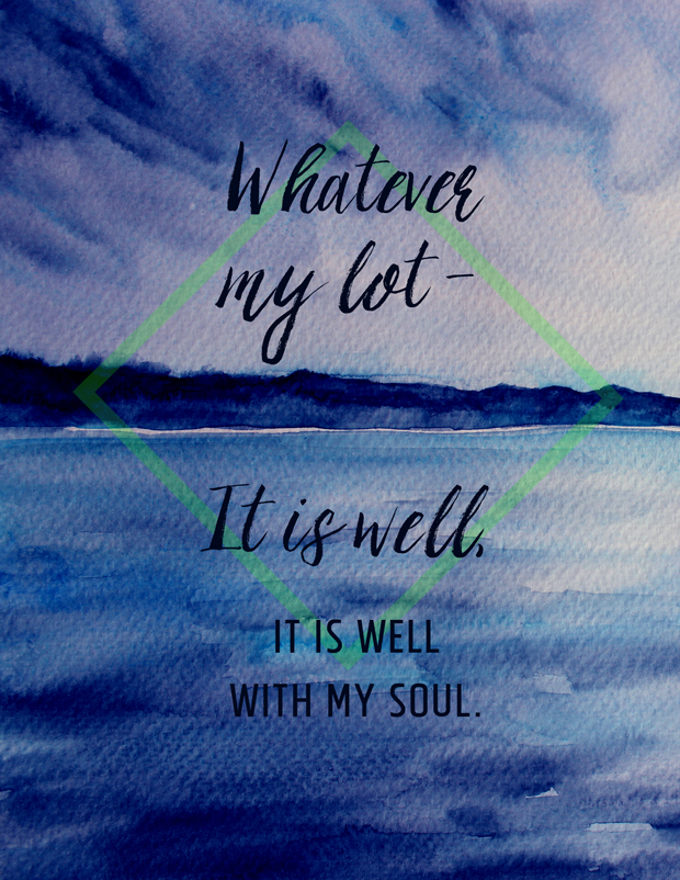 Hymn lyrics - Whatever my lot Thou has taught me to say - it is well with my soul