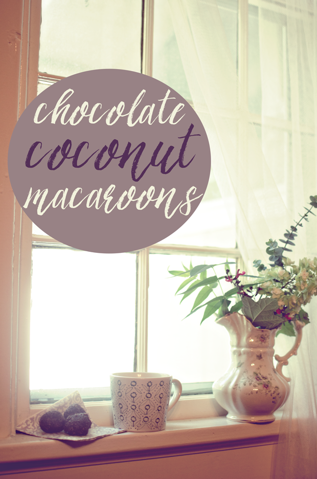 no bake chocolate coconut macaroons sweetened with honey