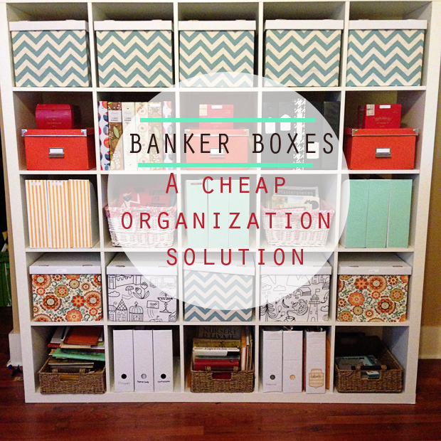 fabric covered banker boxes cheap organization solution