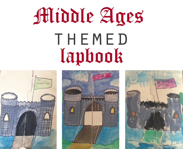 middle ages themed lapbook for homeschool history lessons