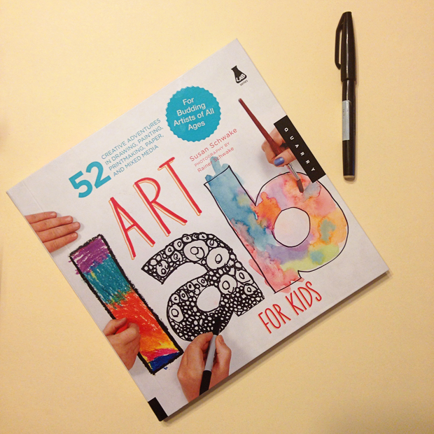 Art Lab for Kids - a colorful, well thought out and easy to follow art project book for kids. Includes 52 creative adventures in drawing, painting, printmaking, paper, and mixed media. Lots of fun for the whole family!