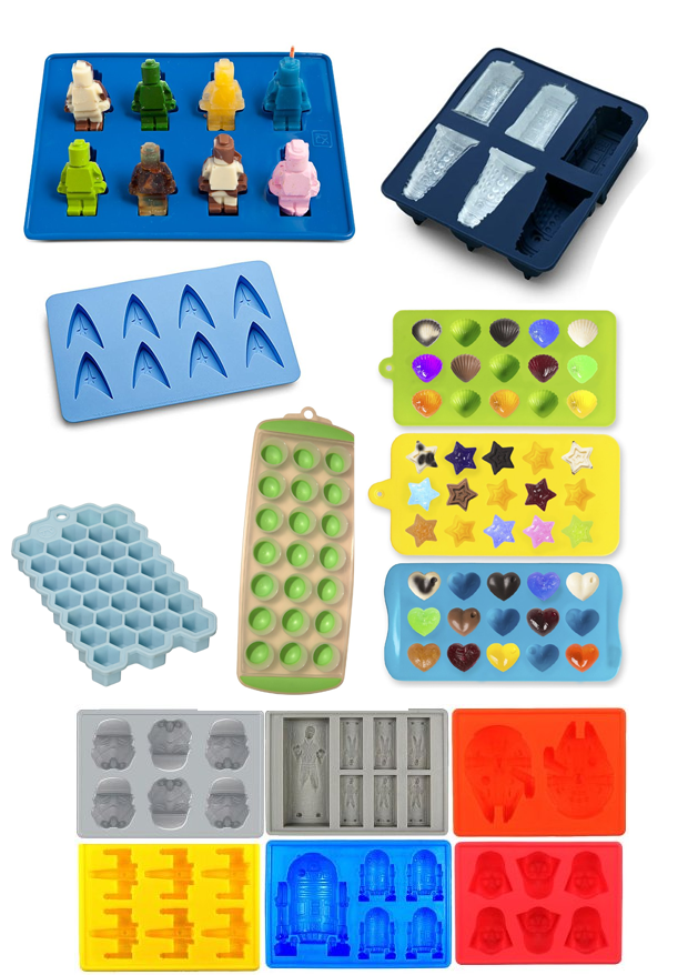 Unique and fun Silicone trays for ice, candy, or sugar cube molds