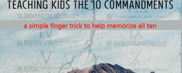 Teaching Kids the 10 Commandments 1